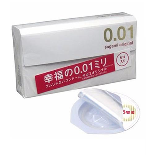 Bao cao su Sagami Original 0.01 – Hộp 5 chiếc
