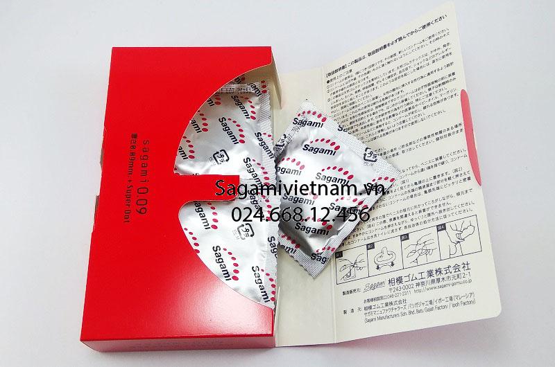 Bao cao su Sagami Dot 009, hàng Nhật cao cấp chính hãng