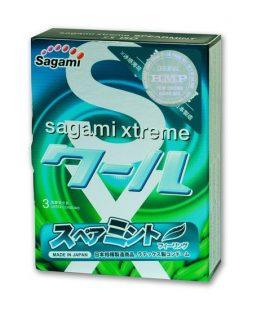 Bao cao su Sagami Xtreme Spearmint – Hộp 3 cái