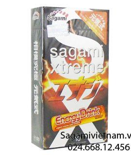 Bao cao su Sagami Xtreme Energy, hương nước tăng lực tăng kích thích
