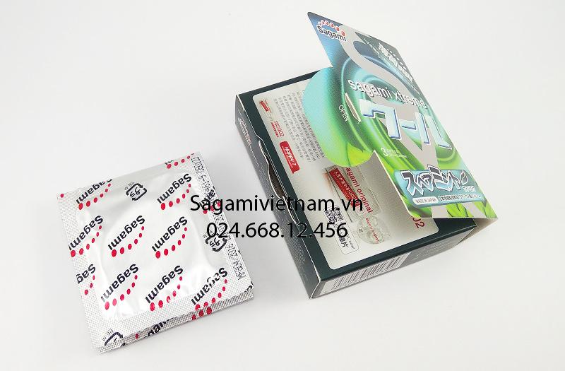 Bao cao su Sagami Spearmint hộp 3, chính hãng giá rẻ nhất Hà Nội