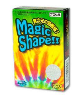 Bao cao su Sagami Magic Shape – Hộp 5, size nhỏ, gân gai