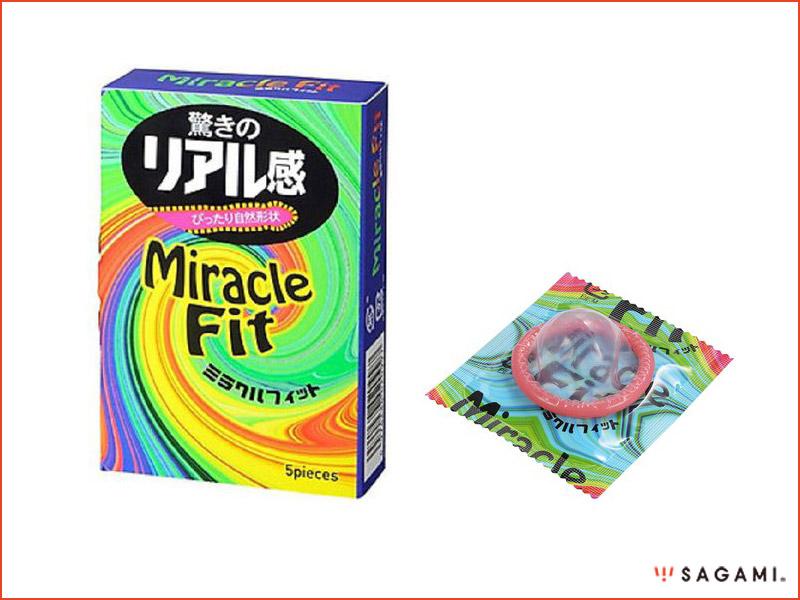 Bao cao su Sagami Miracle Fit hộp 5 cái, size nhỏ, giá rẻ