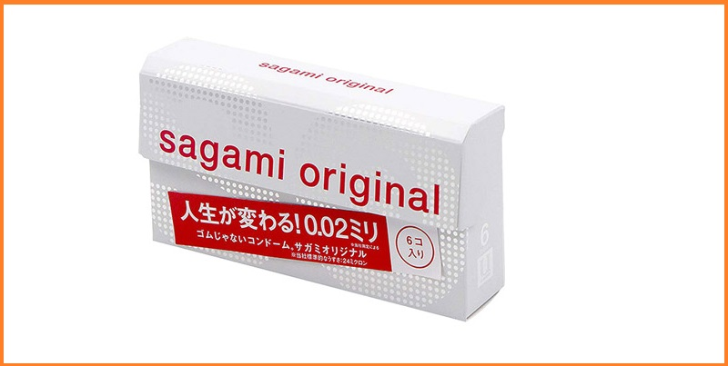 Bao cao su Sagami Original 0.02 – Hộp 6 chiếc